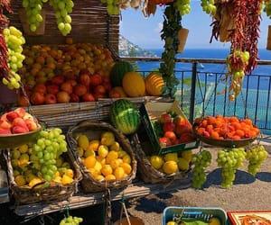 Amalfi coast, colourful, and fruit image