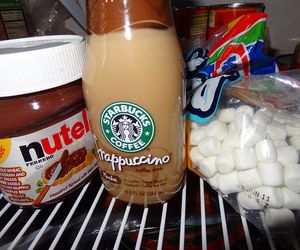 nutella, food, and starbucks image