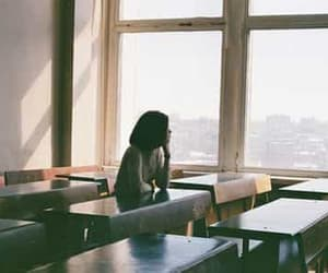 school and alone image