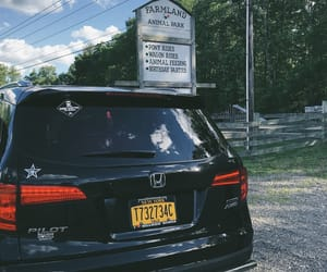 black, highway, and Honda image