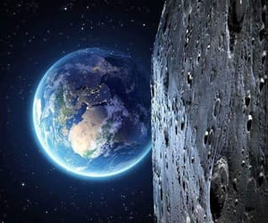 earth, moon, and space image