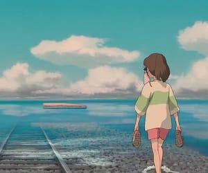 anime, sea, and spirit image