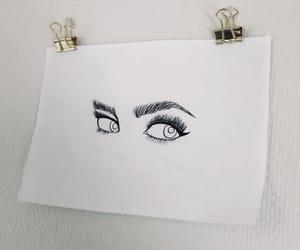 drawing, eyes, and minimal image