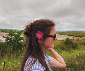 brunette, canada, and cloudy image