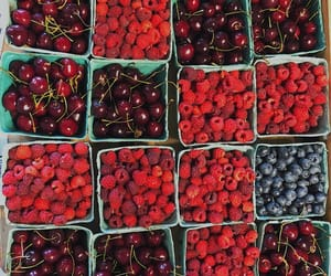 berries, farmers market, and fresh image