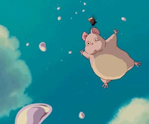 anime, bird, and blue sky image