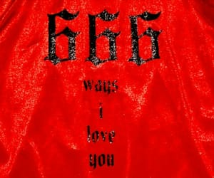 666 and red image