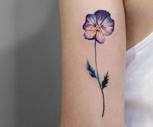 colorful, orchid, and tattoo image