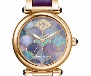 clock, reloj, and purple image
