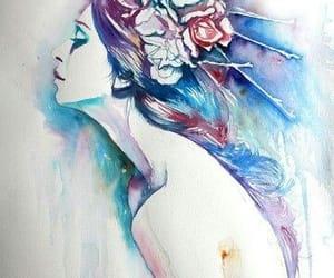 acuarela, belleza, and ilustracion image