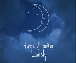 lonely, sad, and moon image