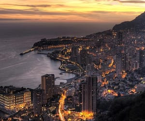 city, monaco, and light image
