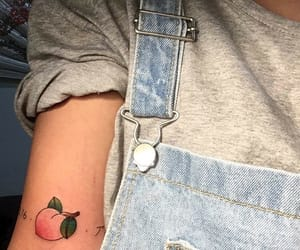 peach, tattoo, and aesthetic image