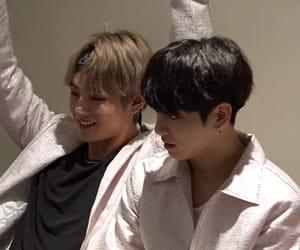 bts, kim taehyung, and jeon jungkook image