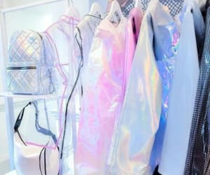 closet, fashion, and holographic image