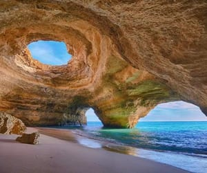 beach, portugal, and sea image