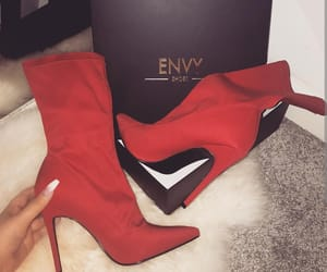 heels, high heels, and red image