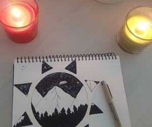 aesthetic, candles, and drawing image