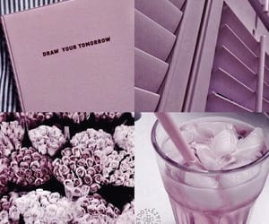 Collage, purple, and wallpaper image