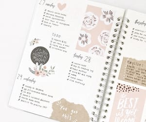 planner, study, and bullet journal image