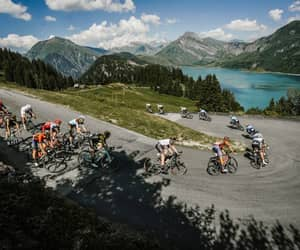 cycling, mountains, and tdf image