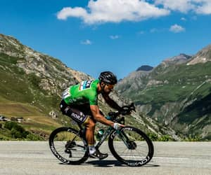 cycling, cyclist, and mountains image
