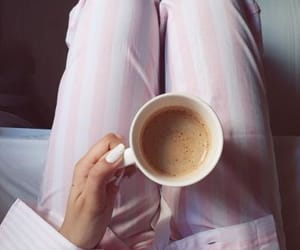 girly, lovely, and coffee time image