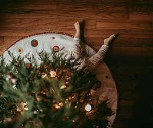 child, christmas tree, and kid image