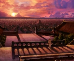 avatar, sunset, and aang image