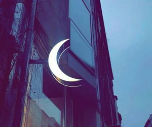 aesthetic, moon, and street image