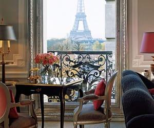 balcony, city, and decor image