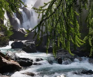italy, trees, and waterfalls image
