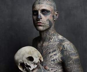 tattoo, rick genest, and skull image