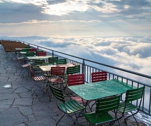 mountain, restaurant, and terrace image