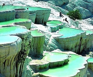 hot springs, limestone, and pamukkale image