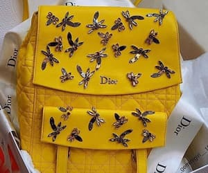 yellow, dior, and bags image