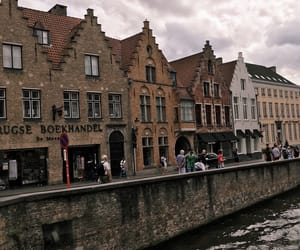 belgium, canals, and Houses image