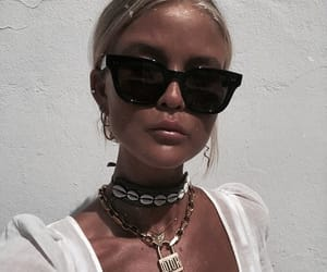 fashion, necklace, and sunglasses image