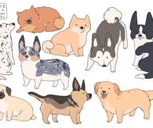 dog, art, and animals image