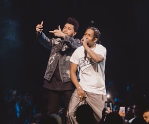music, the weeknd, and asap rocky image