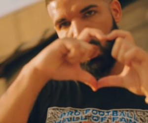 Drake, hand heart, and heart image