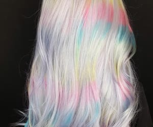 colored hair, dyed hair, and rainbow hair image
