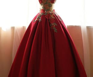 dress, style, and burgundy prom dresses image