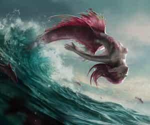 redtail redhead mermaid and backflip mermaid image