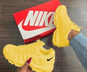 sneakers, nike, and yellow image