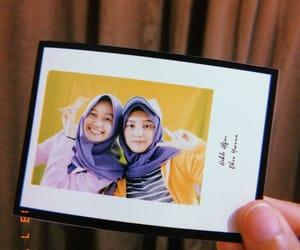 friendship, hijab, and yellow image