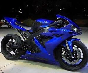 blue and motocycle image