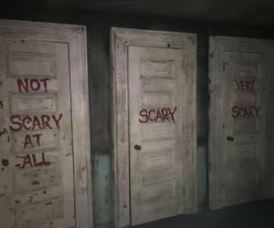scary, dark, and door image