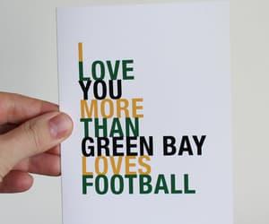 football, green bay, and love image