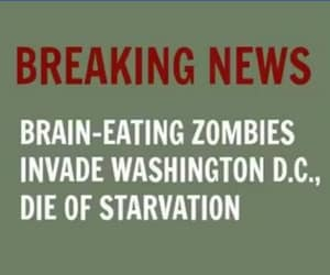 starve to death, brain eating zombies, and attack washington image
